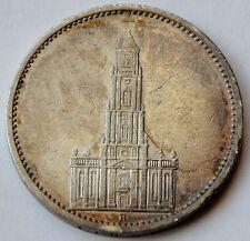 5 mark 1935 A, silver Nazi Germany coin, Potsdam Church, Patina