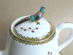 CROWN STAFFORDSHIRE BIRD OF PARADISE F12253 PATTERN TEA SET FOR 2 (Ref5634)