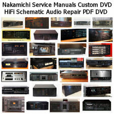 Nakamichi Service Manuals Custom DVD HiFi Schematic Audio Repair PDF DVD  *Nice*