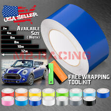 Gloss Color Racing Stripes Vinyl Wrap Decal For Mini Cooper Stripe 25FT / 50FT