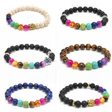 Mens Womens Jewelry 7 Stone Chakra Healing Reiki Prayer Bead Mala Bracelet Gift