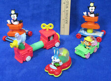 McDonalds Animaniacs Toy Vehicles Looney Toons Dot Pigeons Bugs Girl Lot of 5