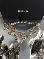 NWT CHANEL $3650 Gold Coin Charm CC Quilted Medallion Classic Necklace Belt 2015