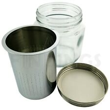 LARGE Steel Sieve Glass Jar For Cleaning Watch Parts or Items of Jewellery