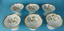 6 Tee/Desert Schalen  Jiesia Porzellan Kirschblüte + Goldrand Decor um 1930 /S40