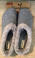 Dearfoams $28 Knit Clog Memory Foam Slippers Women's XL 11-12 Heather Gray NWT