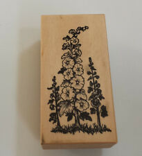 "Hollyhock Rubber Stamp PSX  F-581 Flowers 1.5 x 3""  Petaluma"