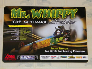 """2011 UNITED KINGDOM ISSUE """"MR. WHIPPY"""" TOP METHANOL DRAGSTER DRAG RACING HANDOUT"""