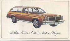 Chevrolet Malibu Classic Estate Station Wagon 1976 US issued Postcard