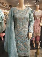 Pakistani Indian Salwar Kameez Wedding Dress Party wear Designer Suit Mint Green