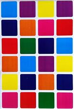 1'' Inch Square Color Coding Stickers Permanent Adhesive Labels 240 Pack