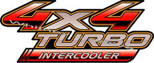 "2 x ""Toyota Hilux 4x4 Turbo Intercooler"" Truck Decal Sticker"