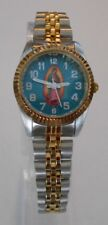Swanson Womens Religious Motif watch 5ATM Water Resist StunningBlue Dial face