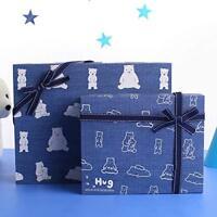 1 SET (gift box + gift bag paper) Hug Bear birthday holiday baby paper gift box