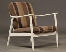 Vintage retro mid century 60s 70s Danish shabby chic armchair x 1 white teak