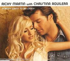 RICKY MARTIN with CHRISTINA AGUILERA - Nobody Wants To Be Lonely (UK CD Single)