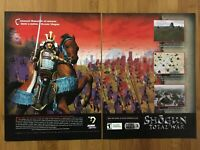 Shogun: Total War PC 2000 Vintage Poster Ad Print Art Official Promo RTS Rare
