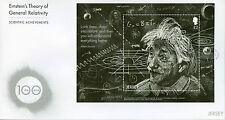 Jersey 2016 FDC Einstein Theory General Relativity 1v M/S Cover Science Stamps