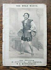 1863 Bold Marco Victorian Music Bel Demonio Feval Fechter photo Bean Maguire