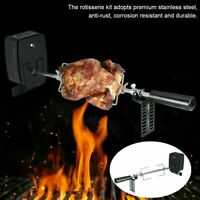106cm Universal Rotisserie Kit for BBQ Spit Rod Meat Forks With Electric Motor