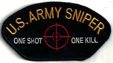 U.S. ARMY SNIPER - ONE SHOT, ONE KILL - IRON-ON PATCH