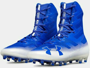 UA Under Armour Highlight MC American Football Cleats Boots Blue White UK 11