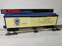 Lionel 6-19529 A.C. Gilbert Inventors Refrigerator Car Blue and Yellow