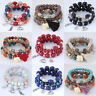 Style Beaded Bracelet Bohemia Stretch Multilayer Elephant Charm Fashion Jewelry