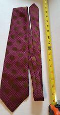 men's neck tie Oleg Cassini by Burma Purple Pink Gold dot