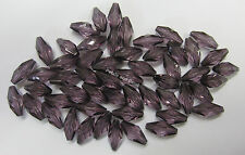 20g Plum Beads 15mm Oval Faceted Acrilic Bead For Beading Craft Jewellery OF004