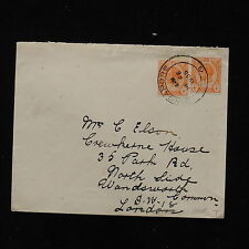 ZS-AB737 STRAITS SETTLEMENTS - Cover, 1935 From Singapore To London