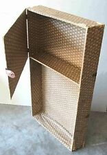 Antique Papered wood insert shelf from trunk for salvage or reclamation FREE SH