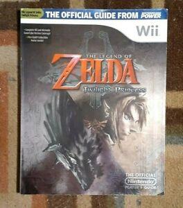 The Legend Of Zelda Twilight Princess Nintendo Player's Strategy Guide + Poster