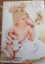 Sirdar Sweetie Knitting Pattern for Baby à Capuche Couverture - 4701