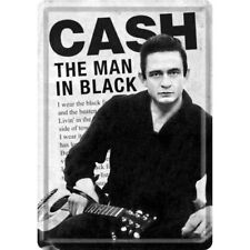 Metal Sign 10242-Johnny Cash-Man in Black - 10 x 14 CM-NEW