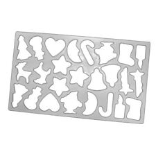 25 Christmas Cookie Cutter Shapes Pastry Biscuit Baking Sheet Snowman Reindeer
