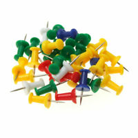 35 PCS Assorted Colors Map Plastic Head Thumb Tack Push Pins for Home Office