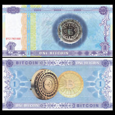 1 / One Bitcoin Paper Note, BTC, Collectibles, Not Currency, Fancy notes