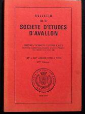 Bulletin de Société d'Etudes d'Avallon -  volume 66 - Années 1972, 1973, 1974