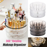 360° Rotating Makeup Organiser Cosmetics Jewellery Holder Storage Box Rack