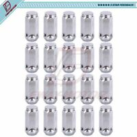 20pcs 1.87 Chrome 1//2-20 UNF Wheel Lug Nuts fit 1988 Dodge Ramcharger May Fit OEM Rims Buyer Needs to Review The spec