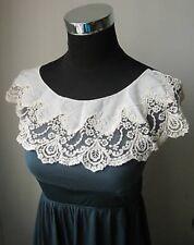 Antique Vinage High Detailed Ecru Lace Yoke Collar Trims-V0024