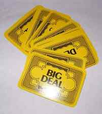1967 The Sting Board Game 15 Big Deal Cards