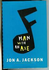 MAN WITH AN AXE by Jon A. Jackson, rare US AM Press crime noir hardcover in DJ