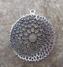 Beautiful Sterling Silver Dahlia Mandala Pendant! Meditation yoga Jewelry Supply