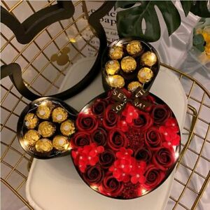 Gift Box Flower Rose Couple Birthday Valentine's Day Candy Wedding Party Decor