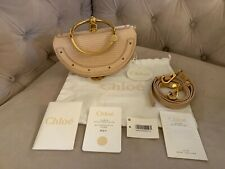 Chloe Nile Bracelet Lizard Leather Minaudiere Clutch Crossbody Bag Pink NWT NEW!