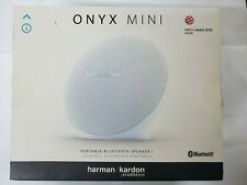 Harman kardon Onyx Mini Portable Wireless Bluetooth Speaker White NO CHARGER!!
