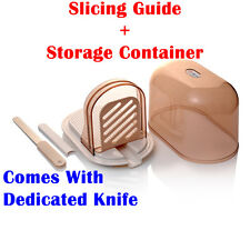 Bread Loaf Toast Slicer Cutter Mold Maker Slicing Cutting Guide Storage Box NEW