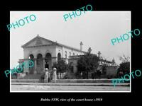 OLD LARGE HISTORIC PHOTO OF DUBBO NSW, VIEW OF THE COURTHOUSE c1910